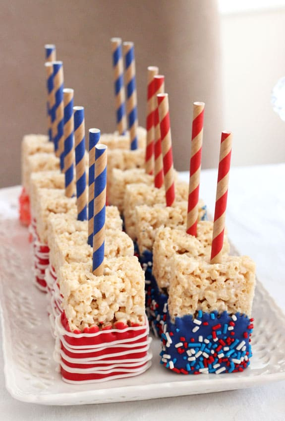 photo of candy coated rice krispie treats