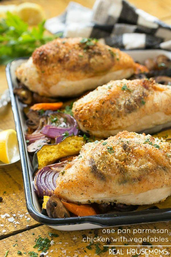 ONE PAN PARMESAN CHICKEN & VEGETABLES