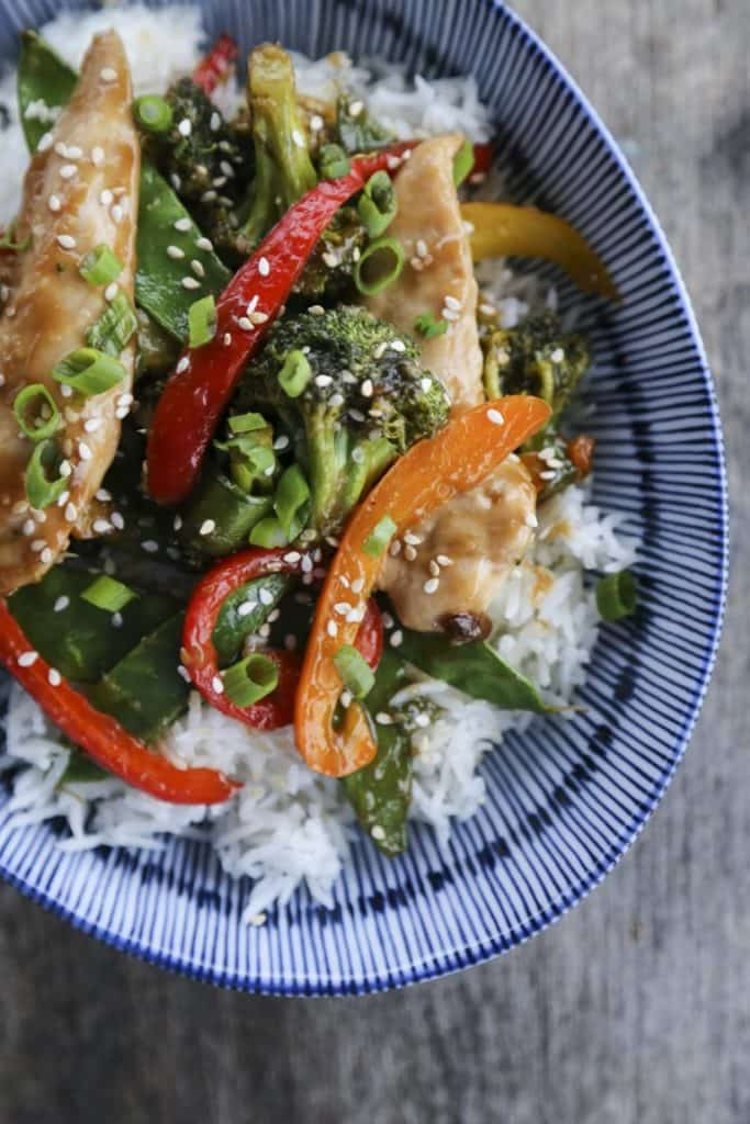 ASIAN CHICKEN STIR FRY SHEET PAN MEAL