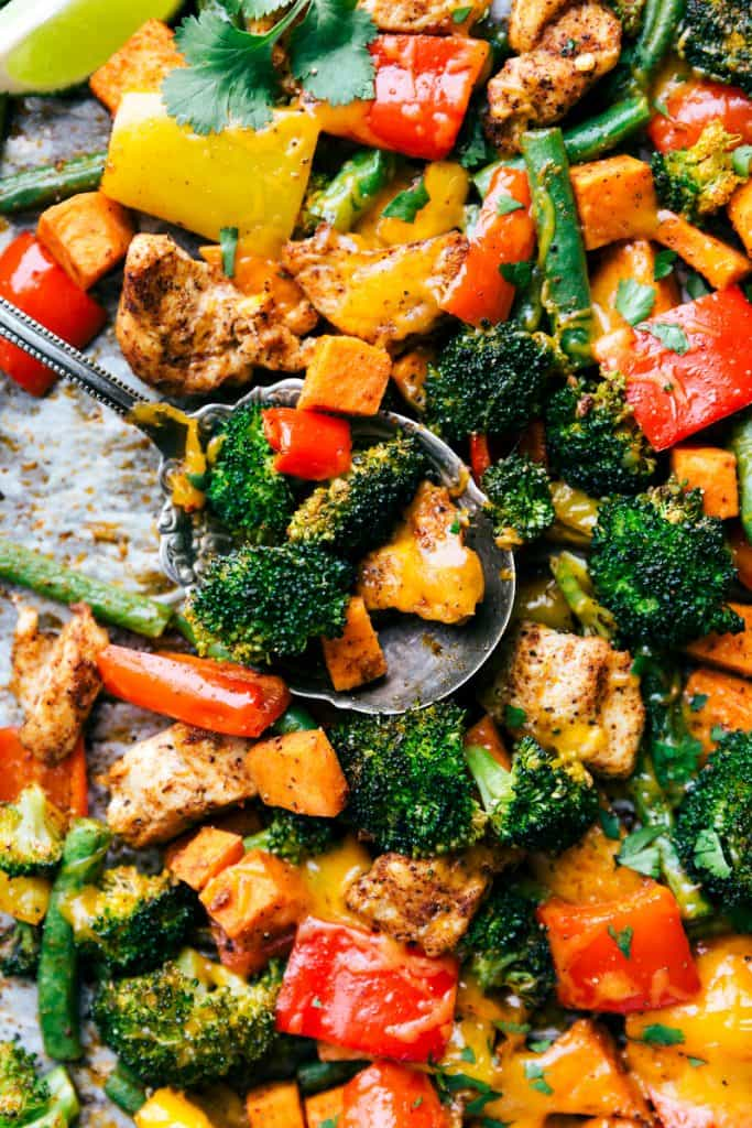 ONE PAN HEALTHY CHICKEN & VEGETABLES