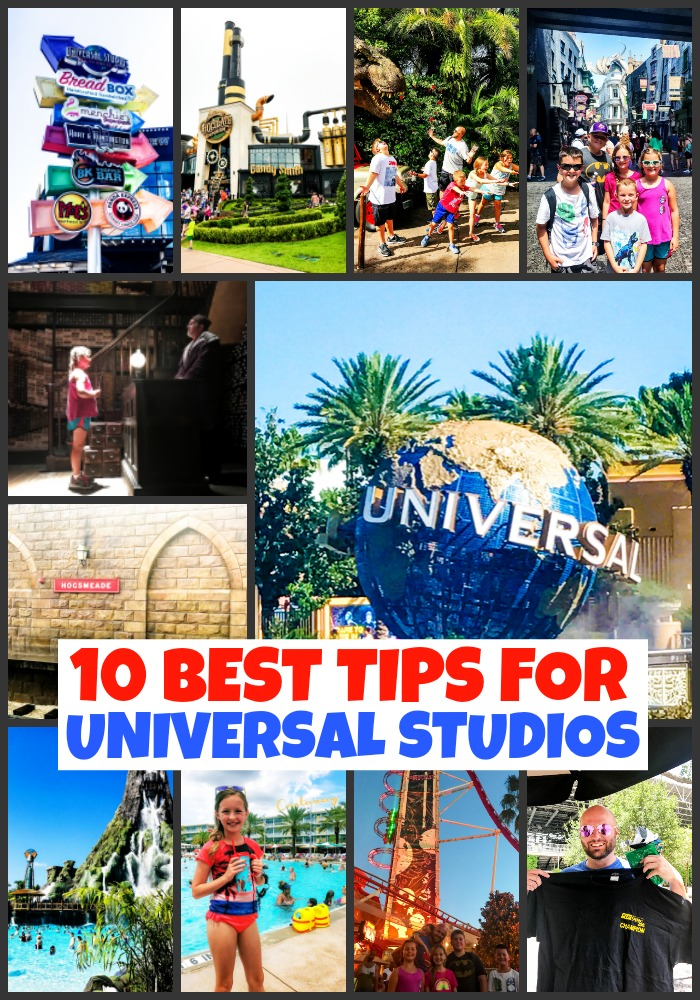 collage of photos from 10 best tips for universal studios