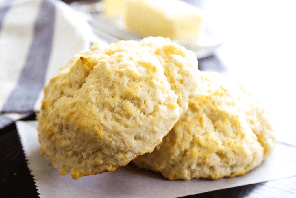 close-up photo of two biscuits
