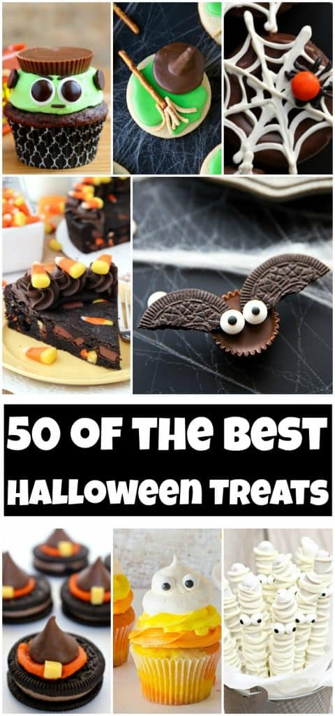 photo collage of halloween treats