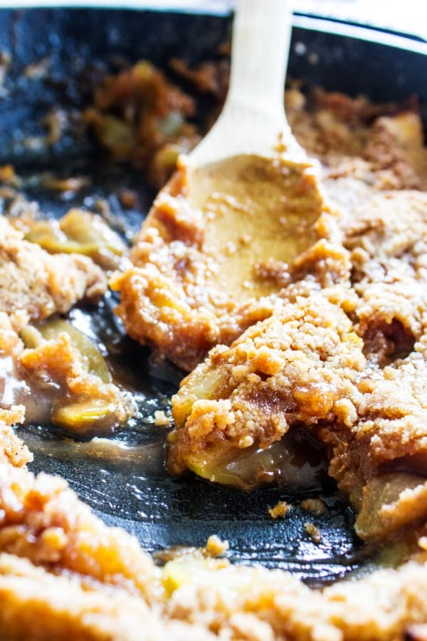 BEST EVER APPLE CRISP is one of our family favorites desserts. Maple caramelized apples and a crisp sweet topping, nothing beats this fall treat.