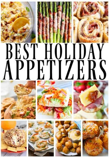 holiday appetizers photo collage
