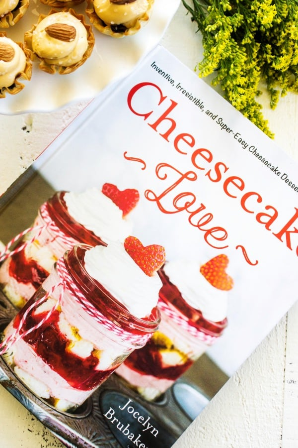This cookbook shares all sorts of cheesecake recipes including this NO-BAKE SALTED CARAMEL CHEESECAKE TARTS.