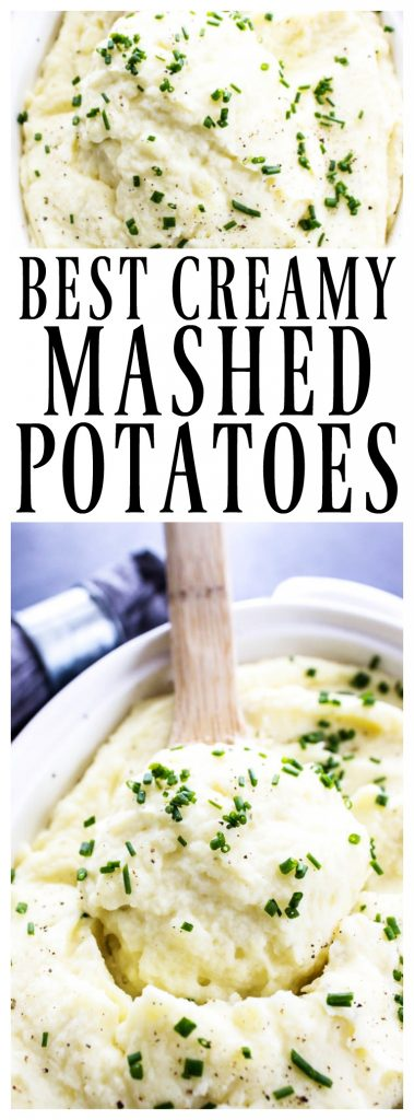 These BEST MASHED POTATOES are light and fluffy, while still rich and creamy; making these the perfect mashed potatoes for any meal or holiday.