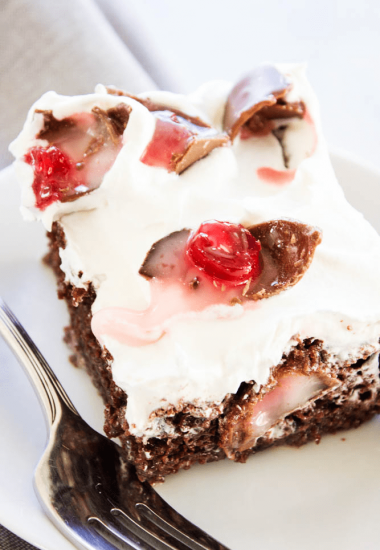 Chocolate Covered Cherry Poke Cake