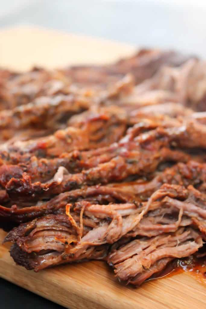 photo of Easy Barbecue Beef Brisket on a cutting board