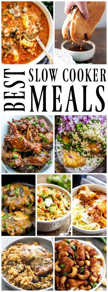 50 OF THE BEST SLOW COOKER MEALS has all of your favorites covered. From pasta to soups, steak to chicken, quinoa to tacos & everything in between.