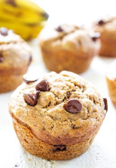 Healthier Banana Chocolate Chip Muffins