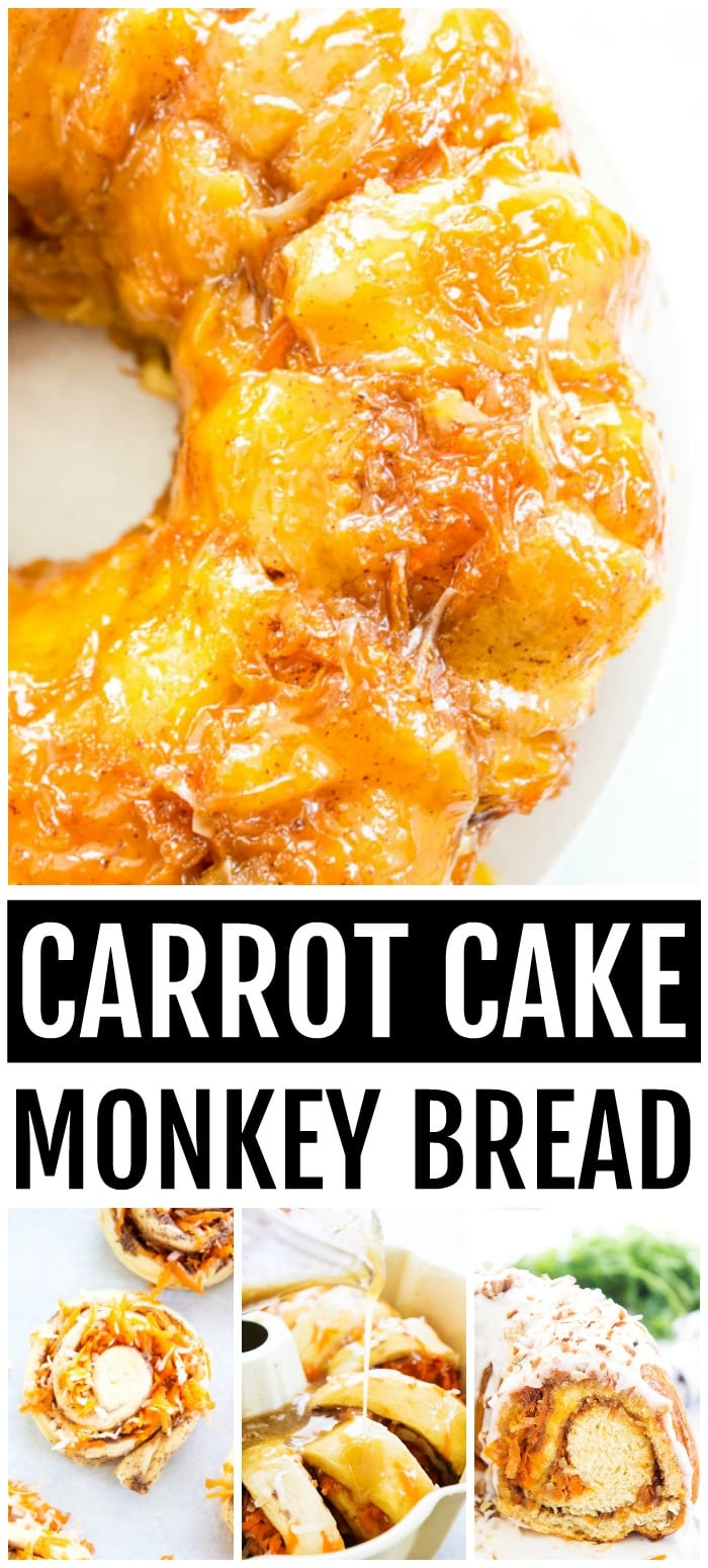 carrot cake monkey bread step by step photos