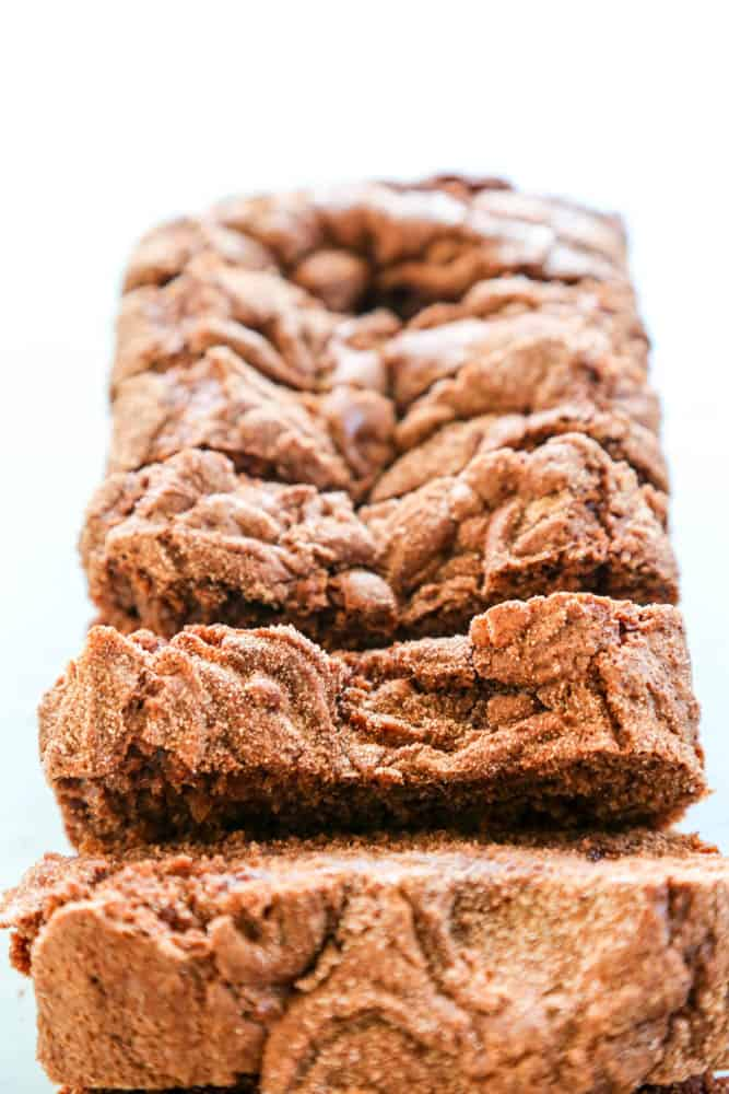 Chocolate Cinnamon Bread sliced loaf
