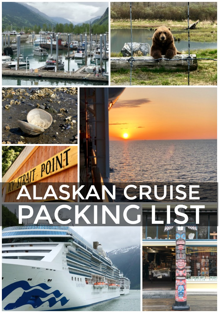 collage of photos from alaskan cruise trip