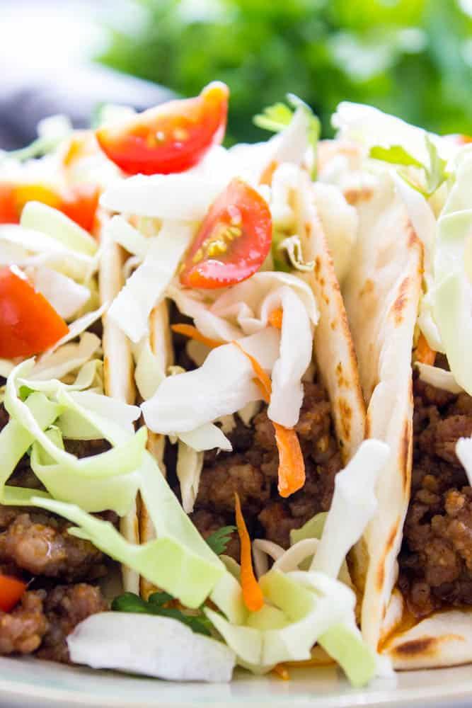Pork Tacos close up image