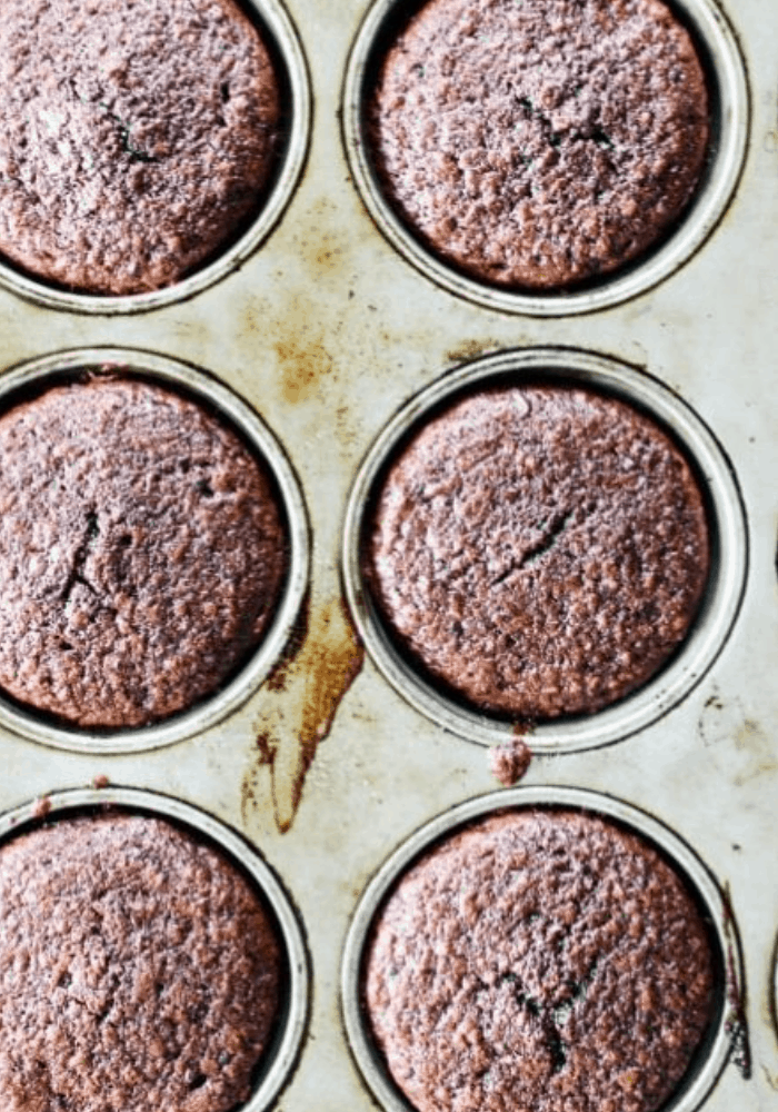 photo of 6 Double Chocolate Banana Quinoa Muffins in muffin tin