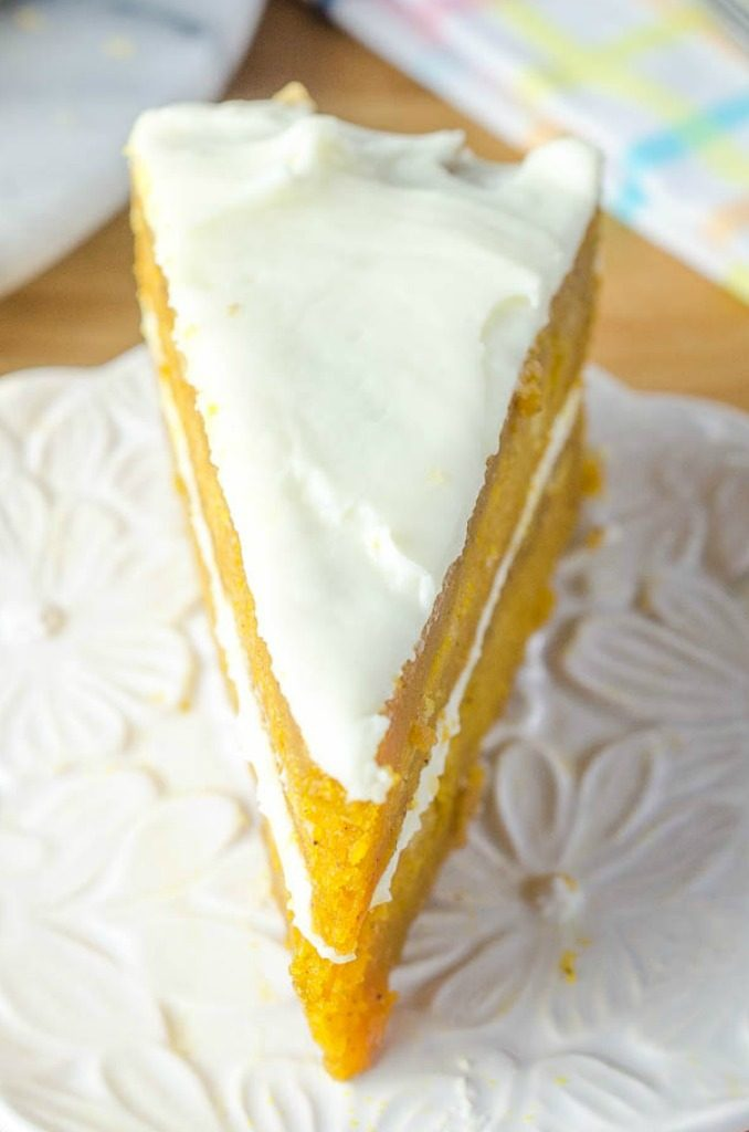 photo slice of carrot cake on white plate