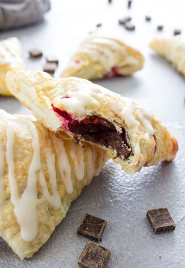 Chocolate Raspberry Turnovers