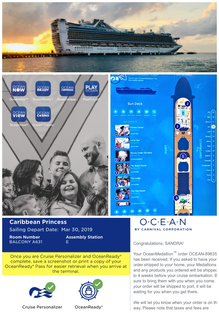 collage with screenshots of ocean medallion information