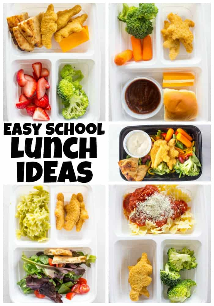 These Easy School Lunch Ideas are all kid-approved. In fact, your kids can even help put these combinations together. Simple, easy & delicious.