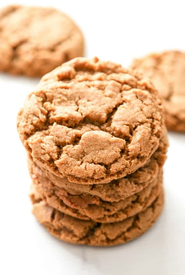 photo of a stack of gingersnap cookies