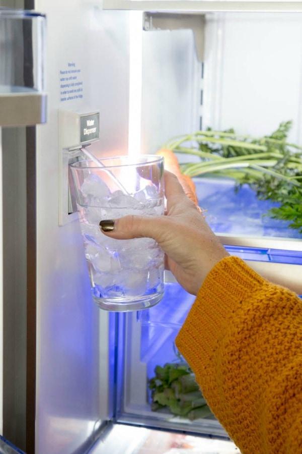 photo showing water dispenser inside beko fridge