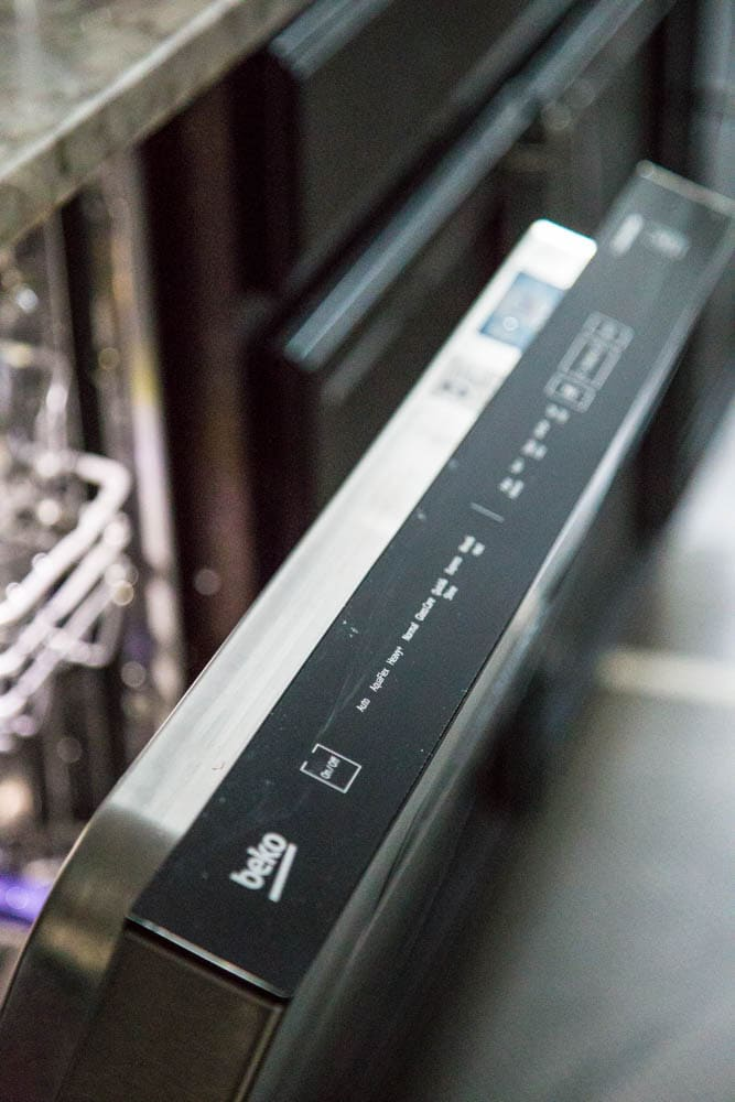photo of touch controls on beko dishwasher