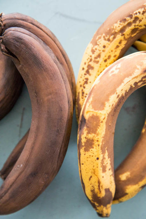 photo of over-ripened bananas
