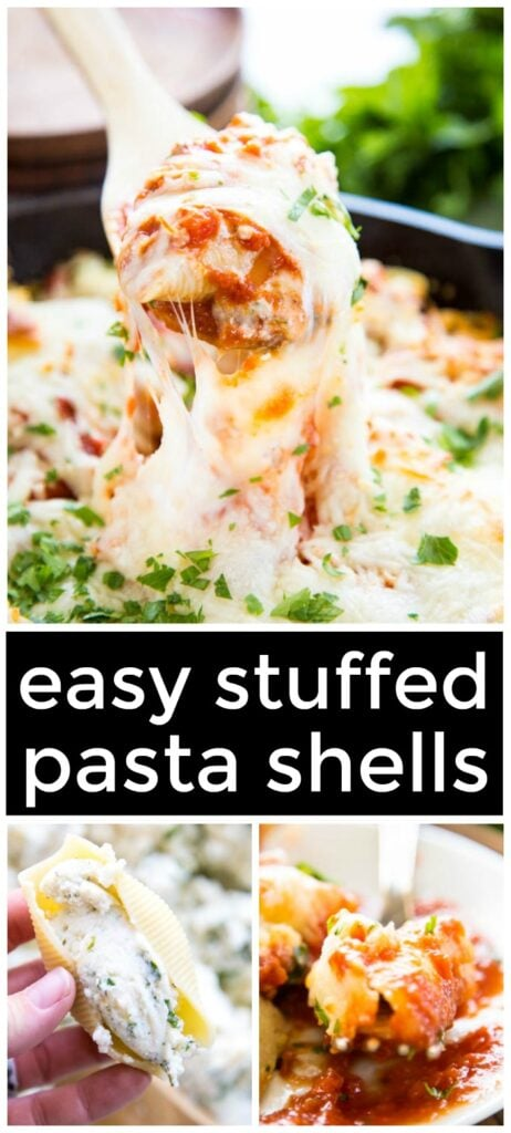 stuffed shells pinterest image.