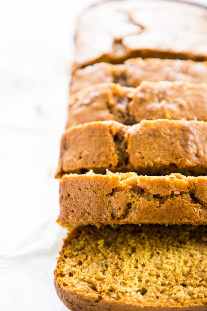 photo of sliced pumpkin bread.
