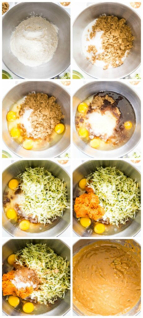 photo collage showing recipe steps.