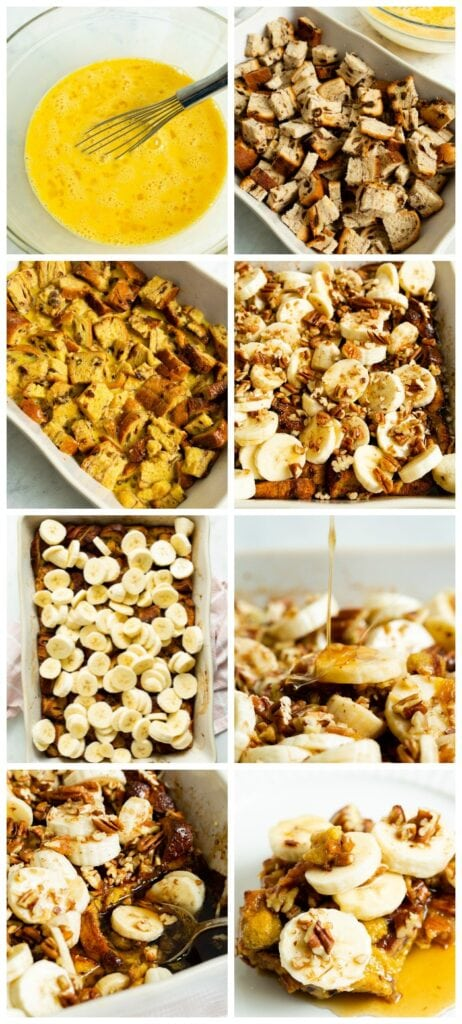 photo collage with recipe steps.
