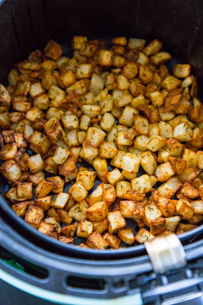 cooked potatoes in the air fryer