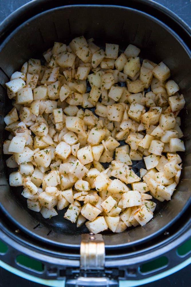 seasoned potatoes in air fryer