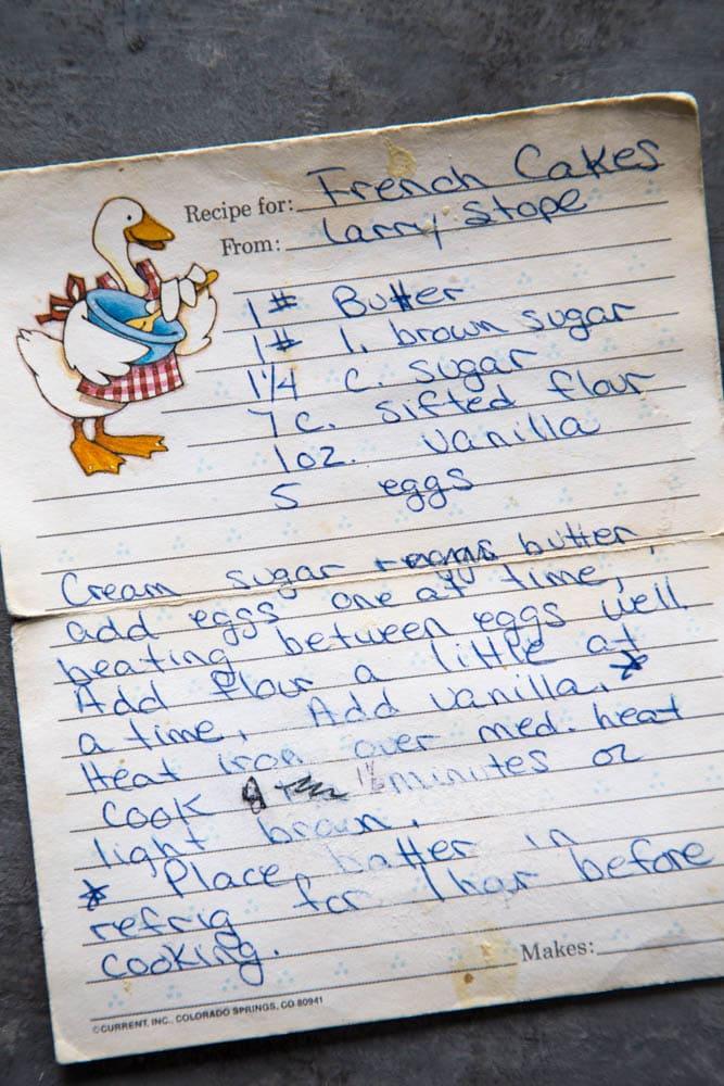 the recipe written on a recipe card