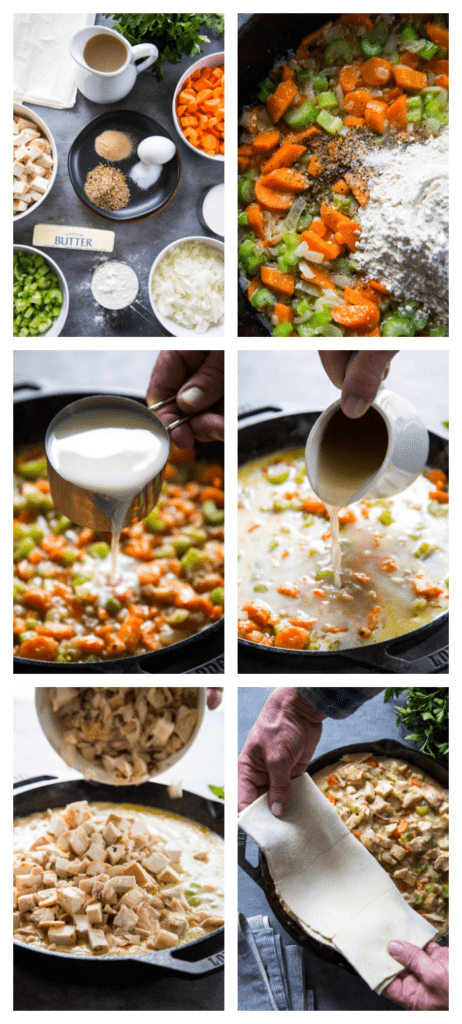 photo collage showing the recipe steps