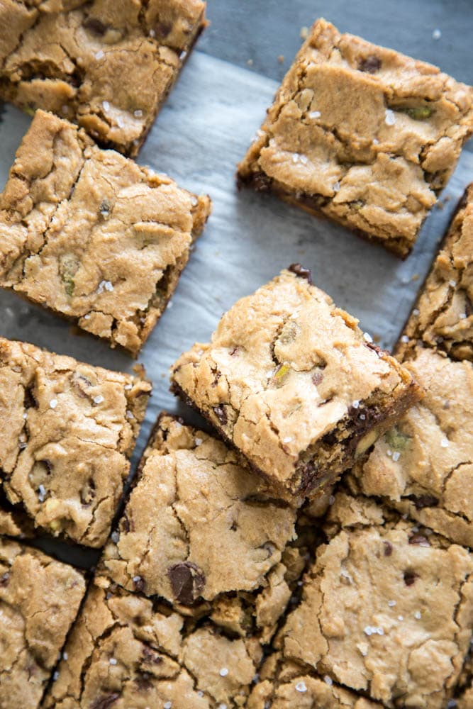 sliced cookie bars.