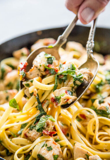 Chicken pasta skillet.