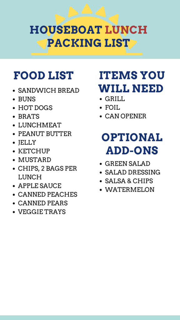 lunch packing list graphic.