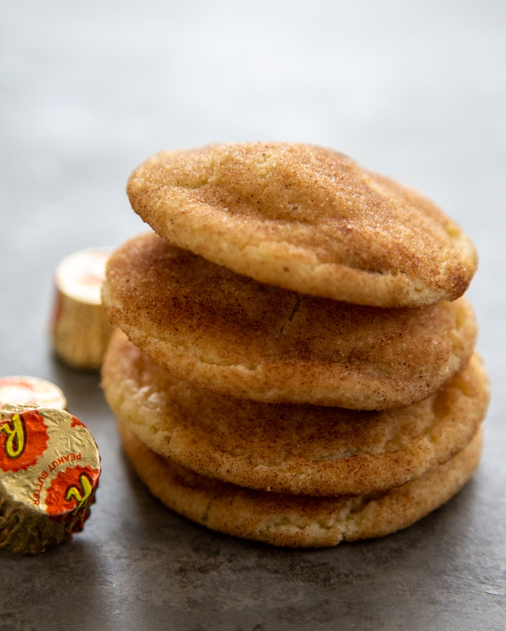 a stack of four snickerdoodles.