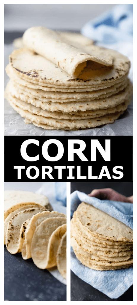 stack of freshly made corn tortillas