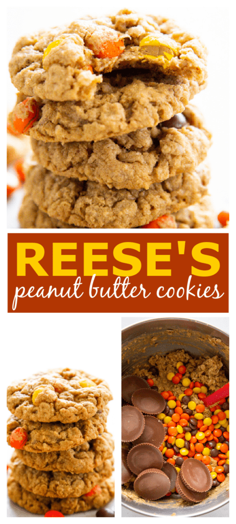 peanut butter oatmeal cookies pinterest collage.