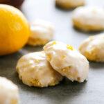 two lemon drop cookies