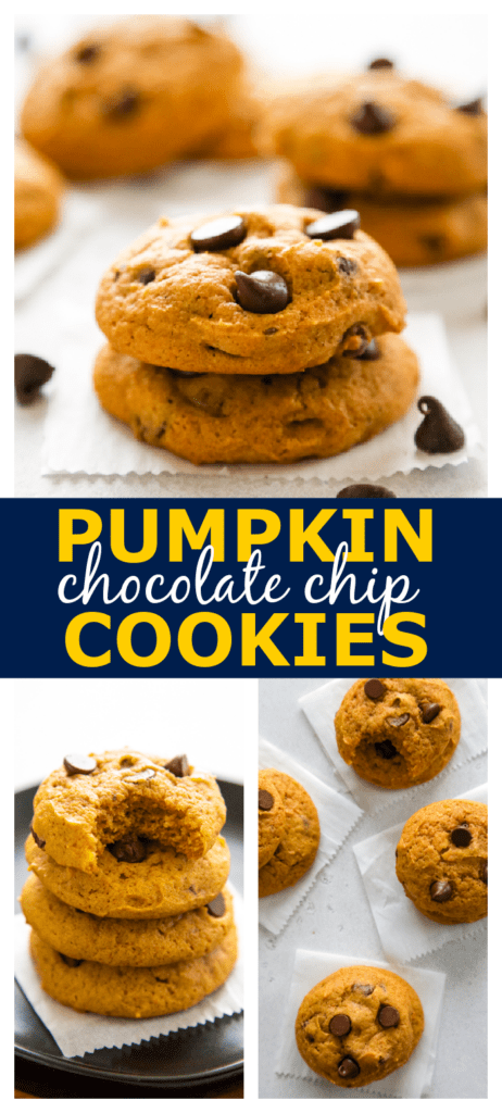 photo collage with pumpkin cookies.