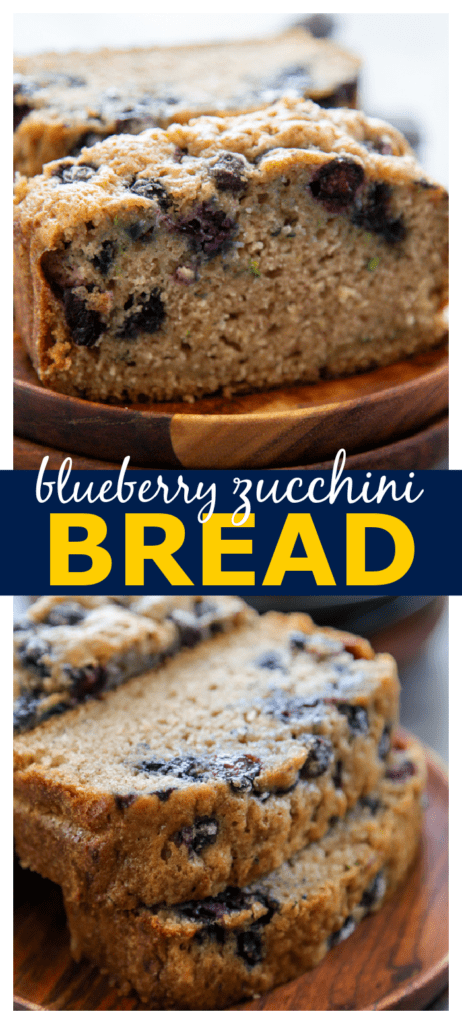zucchini blueberry bread pinterest photo collage.