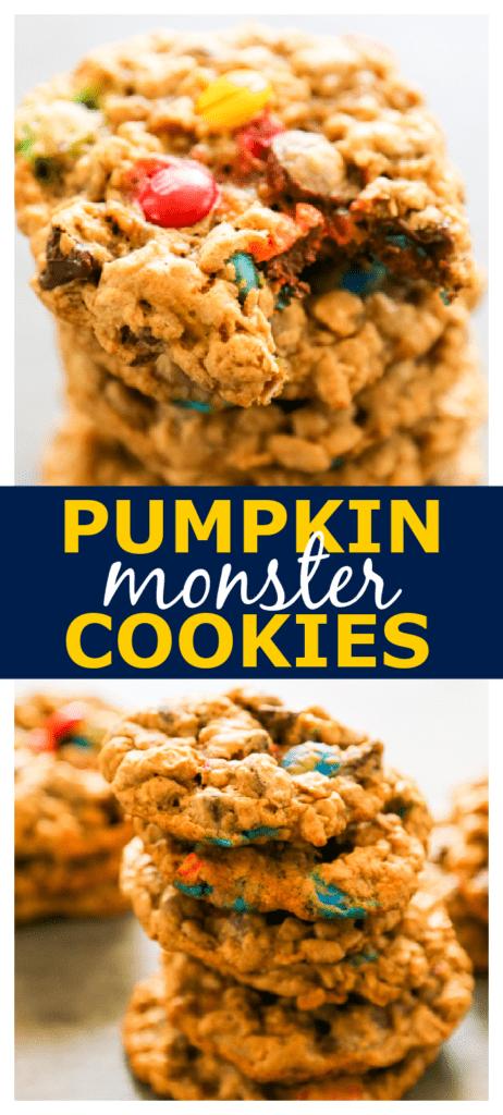 pumpkin monster cookies pinterest photo collage.