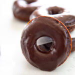 baked chocolate pumpkin donuts